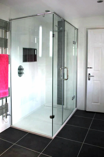 Contemporary shower, Stroud.